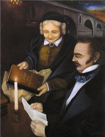 Allan Karde e sua mulher, Amelie Boudet